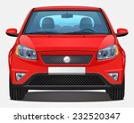vector red car   front view  ...   Shutterstock .eps vector #232520347