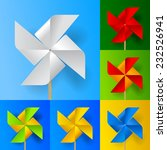 multicolored toy paper windmill ... | Shutterstock .eps vector #232526941