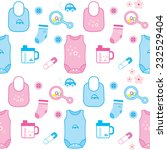 seamless pattern with baby... | Shutterstock .eps vector #232529404
