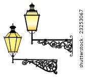 italian forged iron elegant... | Shutterstock . vector #23253067