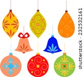 isolated christmas ornaments on ... | Shutterstock .eps vector #232532161