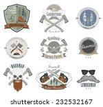 set of lumberjack labels ... | Shutterstock .eps vector #232532167