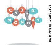 cyber monday spelled by... | Shutterstock .eps vector #232532521