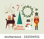 christmas elements  greeting... | Shutterstock .eps vector #232534531