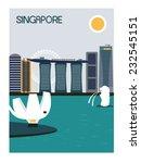 singapore city. vector   Shutterstock .eps vector #232545151