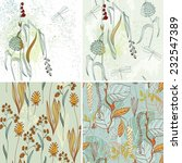 vector floral background with... | Shutterstock .eps vector #232547389