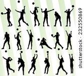 volleyball woman player vector... | Shutterstock .eps vector #232550869
