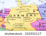 Close Up Of Colored Map Of...