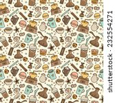 hand drawn doodle coffee... | Shutterstock .eps vector #232554271