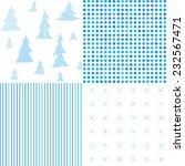 set of christmas patterns.... | Shutterstock .eps vector #232567471