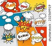 Comic Speech Bubbles In Pop Ar...