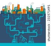 factory flat industry... | Shutterstock .eps vector #232571491