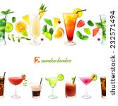 cocktail seamless border with... | Shutterstock .eps vector #232571494