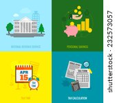 tax flat icons set with... | Shutterstock .eps vector #232573057