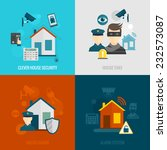 home security flat icons set... | Shutterstock .eps vector #232573087