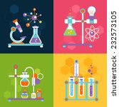 chemistry decorative flat icons ... | Shutterstock .eps vector #232573105