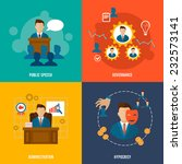 executive flat icons set with... | Shutterstock .eps vector #232573141