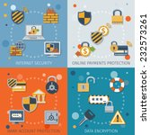 security flat icons set with... | Shutterstock .eps vector #232573261
