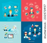 insurance flat icons set with... | Shutterstock .eps vector #232573957