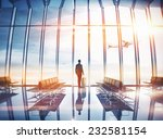 businessman at airport with... | Shutterstock . vector #232581154