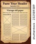 vintage old paper | Shutterstock .eps vector #232589389