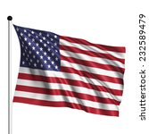 Usa Flag With Fabric Structure...