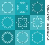 set of abstract vector outline... | Shutterstock .eps vector #232589809