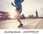 london man running big ben   Shutterstock . vector #232595419