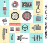 set of auto spare parts. car... | Shutterstock .eps vector #232598731