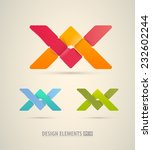 vector origami icons. design... | Shutterstock .eps vector #232602244