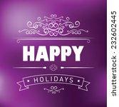 typographical purple background ... | Shutterstock .eps vector #232602445