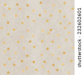 polka dot star golden paper... | Shutterstock .eps vector #232602601
