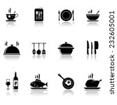 cooking and kitchen icons with... | Shutterstock .eps vector #232605001