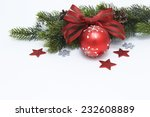 green branches with christmas... | Shutterstock . vector #232608889