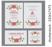 wedding invitation. vector | Shutterstock .eps vector #232617475