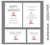 wedding invitation. vector | Shutterstock .eps vector #232617505