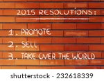business resolutions and goals