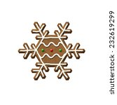 gingerbread snowflake isolated...   Shutterstock . vector #232619299