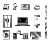 black and white home appliances ... | Shutterstock .eps vector #232620301