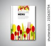 restaurant menu card design... | Shutterstock .eps vector #232620754
