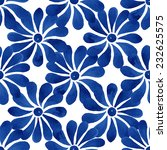 Floral Seamless Pattern  Blue...