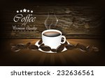 coffee background with wood... | Shutterstock .eps vector #232636561