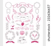 set of hand draw elements.... | Shutterstock .eps vector #232636657