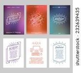 set hipster geometric... | Shutterstock .eps vector #232639435
