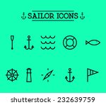 set of marine nautical icons ... | Shutterstock .eps vector #232639759