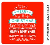 merry christmas card wishes ... | Shutterstock .eps vector #232645165