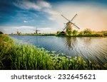 historians dutch windmills near ... | Shutterstock . vector #232645621