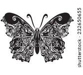 vector butterfly in a modern... | Shutterstock .eps vector #232650655