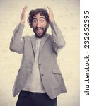 young crazy man   Shutterstock . vector #232652395