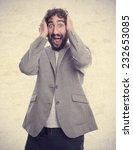 young crazy man   Shutterstock . vector #232653085